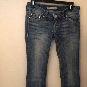 BKE boot-cut light wash jeans